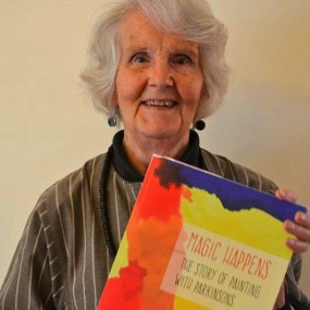 Nancy Tingey with book