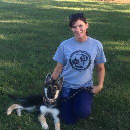 Alisha and her pup, Courtney