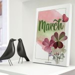 Let's Celebrate March with a Pretty Free Printable!