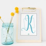No Kidding! It's a 'K' Monogram Monday Free Printable