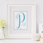 Monogram Monday – Perfectly Pretty 'P' Printable – Pick It Up Pronto!