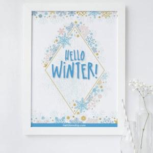 Free Winter Printable from HallStirredUp.com