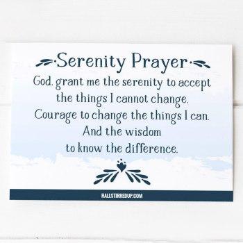 Serenity Prayer Free Printable