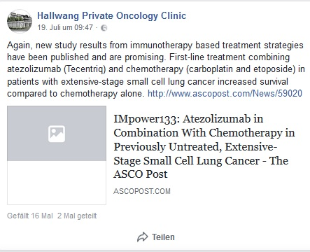 new study results from immunotherapy based treatment strategies