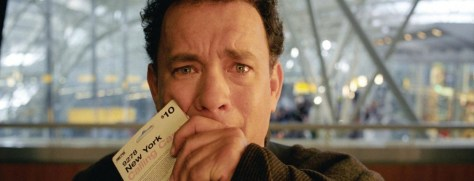 Tom Hanks can't get out of the airport, neither can I.