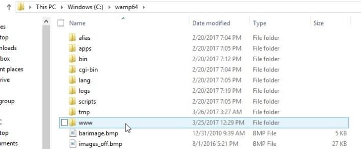 www folder