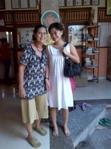 Robin Lim dan saat saya mengandung Mahija pada usia 5 bulan.