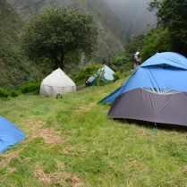 Vår lägerplats för natten