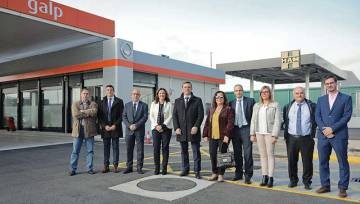 INAUGURATION HAM GAS STATION IN THE PORT OF BARCELONA