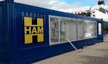 Grupo HAM ha diseñado y construido una unidad móvil para el puerto de Vigo dentro del Proyecto Core LNGas