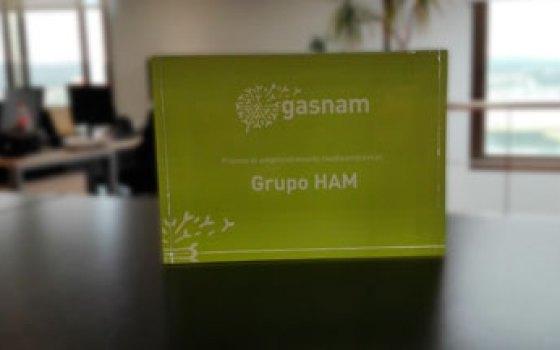 Grupo HAM recibió por parte de Gasnam el premio Emprendimiento Medioambiental por su apuesta por el GNL en el transporte por carretera