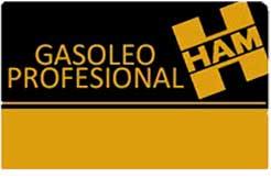 La tarjeta Grupo HAM de Gasóleo Profesional está dirigida a los autónomos y empresas que están inscritos en Hacienda como beneficiarios de devoluciones