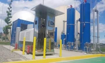 HAMikro es una estación de servicio que permite repostar biometano obtenido a partir de las aguas residuales del servicio municipal de Lleida