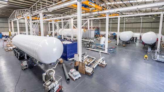 Vakuum dispone de unas instalaciones de más de 15000m2, dedicados a fabricar, reparar y renovar semi-trailers y vehículos rígidos criogénicos