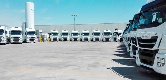 La flota de vehículos de Grupo HAM usa exclusivamente gas natural licuado como combustible