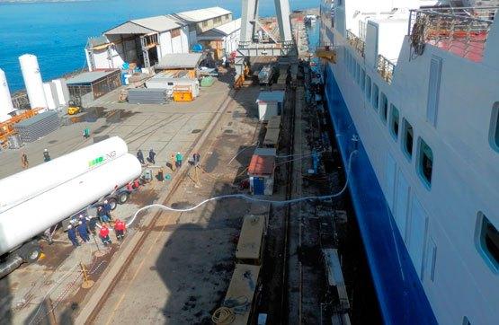 Grupo HAM ofrece en el sector marítimo el servicio de Truck-to-ship de gas natural licuado