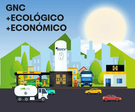 El Gas Natural Comprimido es más económico y ecológico en relación a los carburantes fósiles