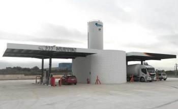La Gasinera HAM Villarreal, Castellón, permite repostar gas natural comprimido (GNC) y gas natural licuado (GNL) en la Carretera Villarreal-Onda, Km3