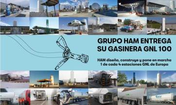 HAM es la responsable del diseñado, construcción y puesta en marcha del 25% de estaciones de servicio GNL en Europa