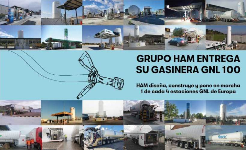 HAM ha diseñado, construido y puesto en marcha más del 25% de estaciones de servicio GNL en Europa