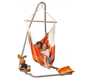 Ensemble hamac chaise avec support  chaise suspendue avec support     Set Luna   Brasil Papaya