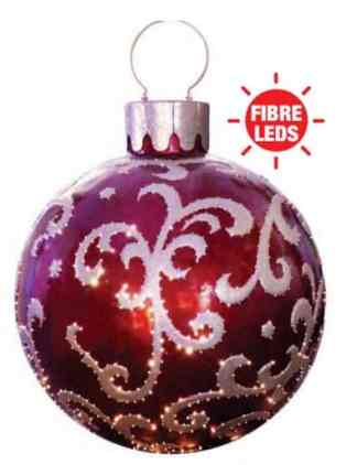 Giant Christmas Bauble - Red /Gold prop