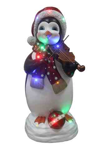 Penguin Playing Violin statue