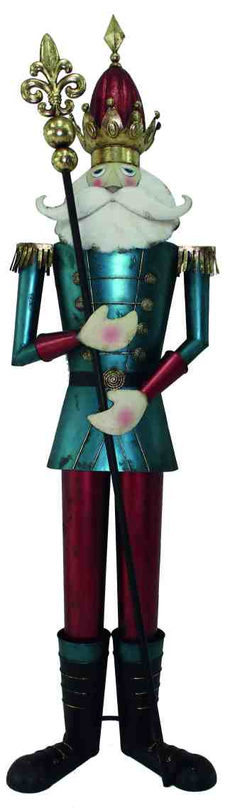 Nutcracker Red/Blue statue