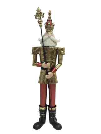 Nutcracker Red/Gold statue