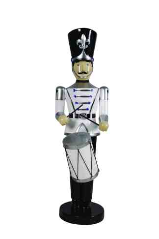 Toy Soldier with Drum (White/Black)