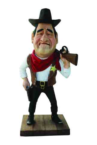 Mr.Sheriff with Base statue