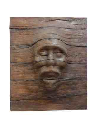 Eerie Face- Wood Panel statue
