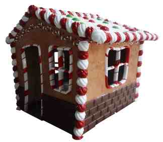 Gingerbread House statue