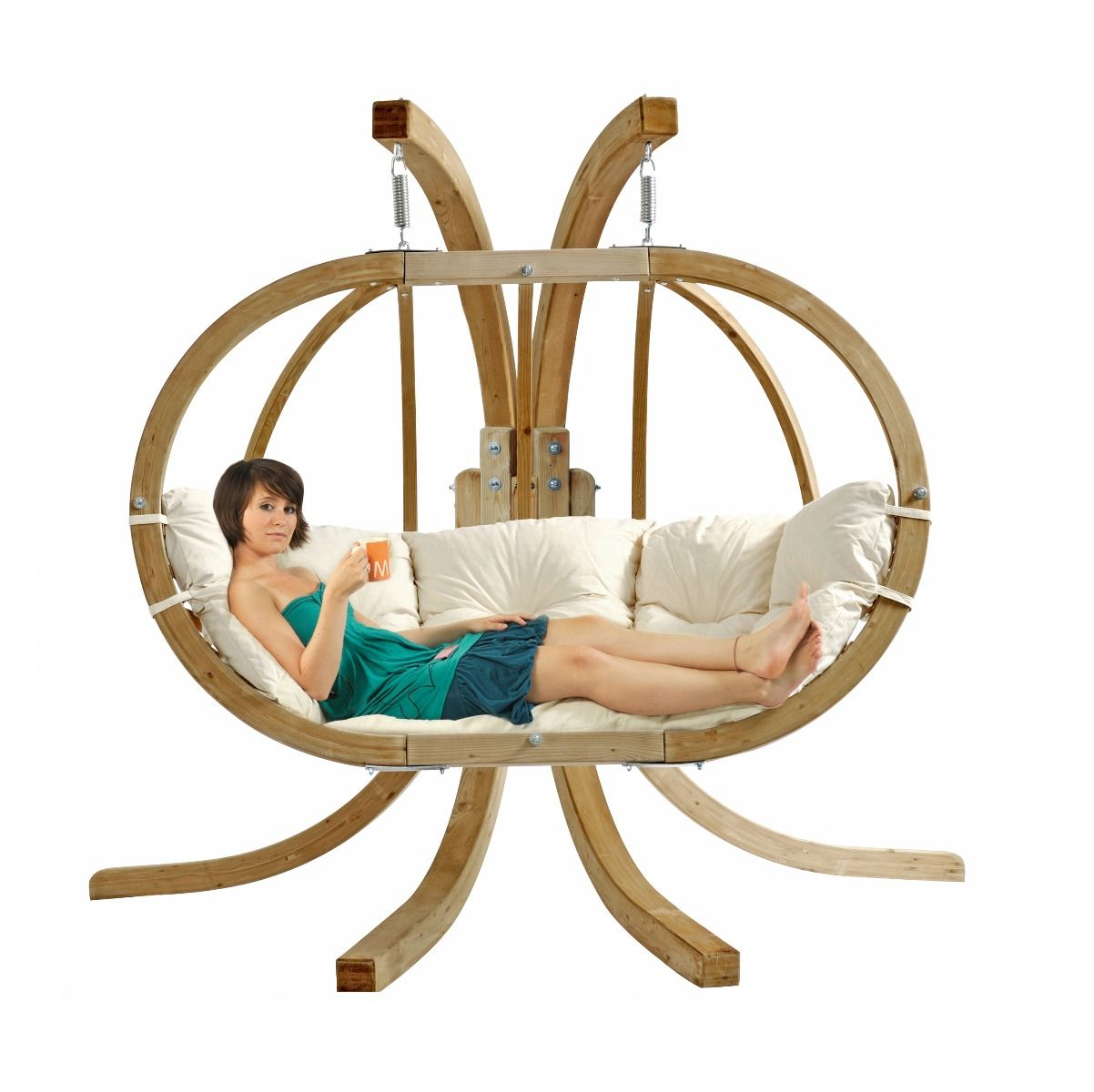 hamac chaise avec support globo royal natura