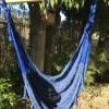hamac chaise mexicain bleu coton
