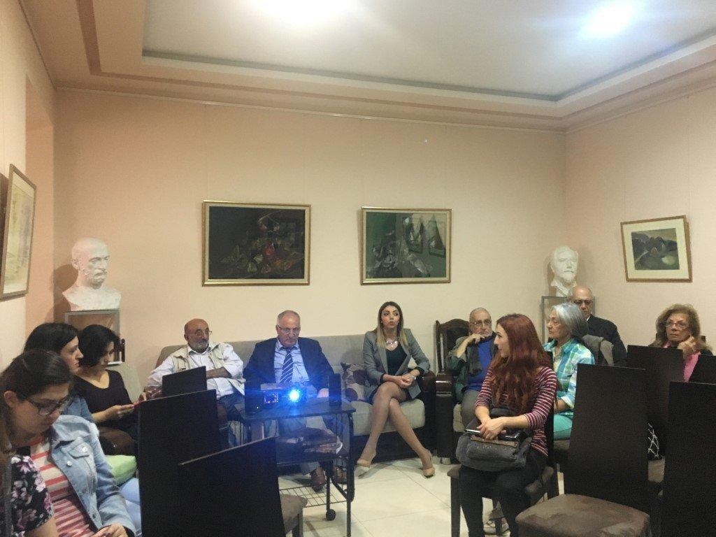 """Fathers' Land"" Movie Screened at the Hamazkayin Office in Armenia"