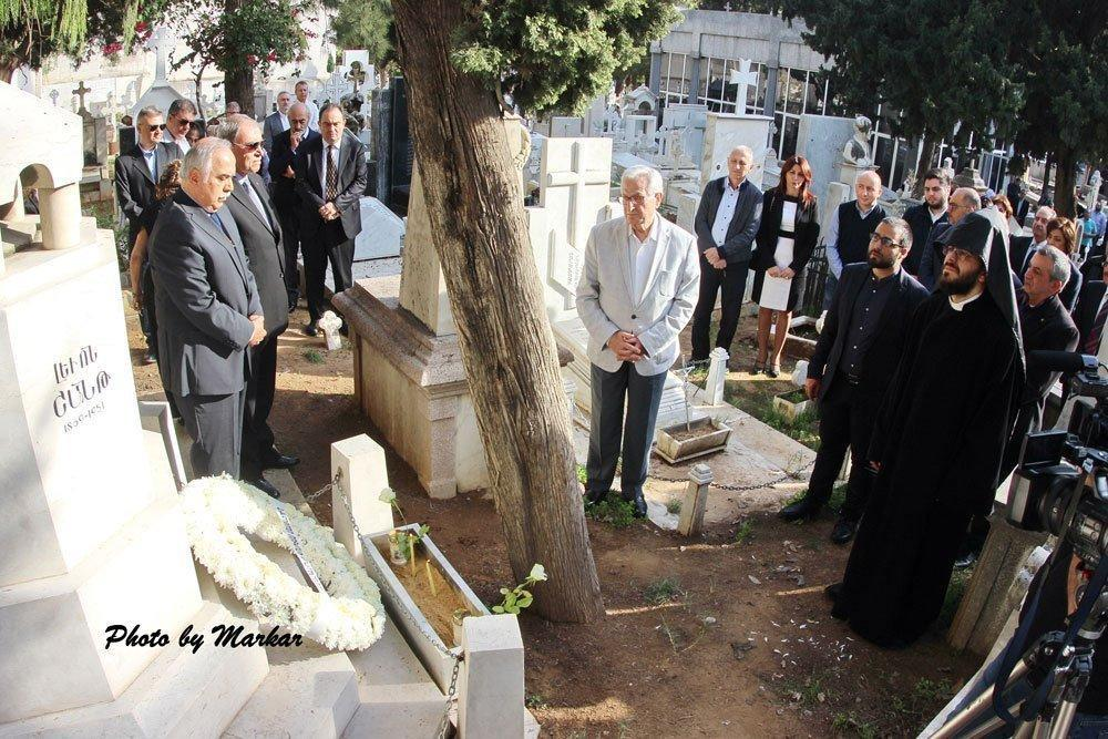A Visit to the Tombs of Parsegh Ganachian, Nigol Aghpalian, and Levon Shant in Lebanon