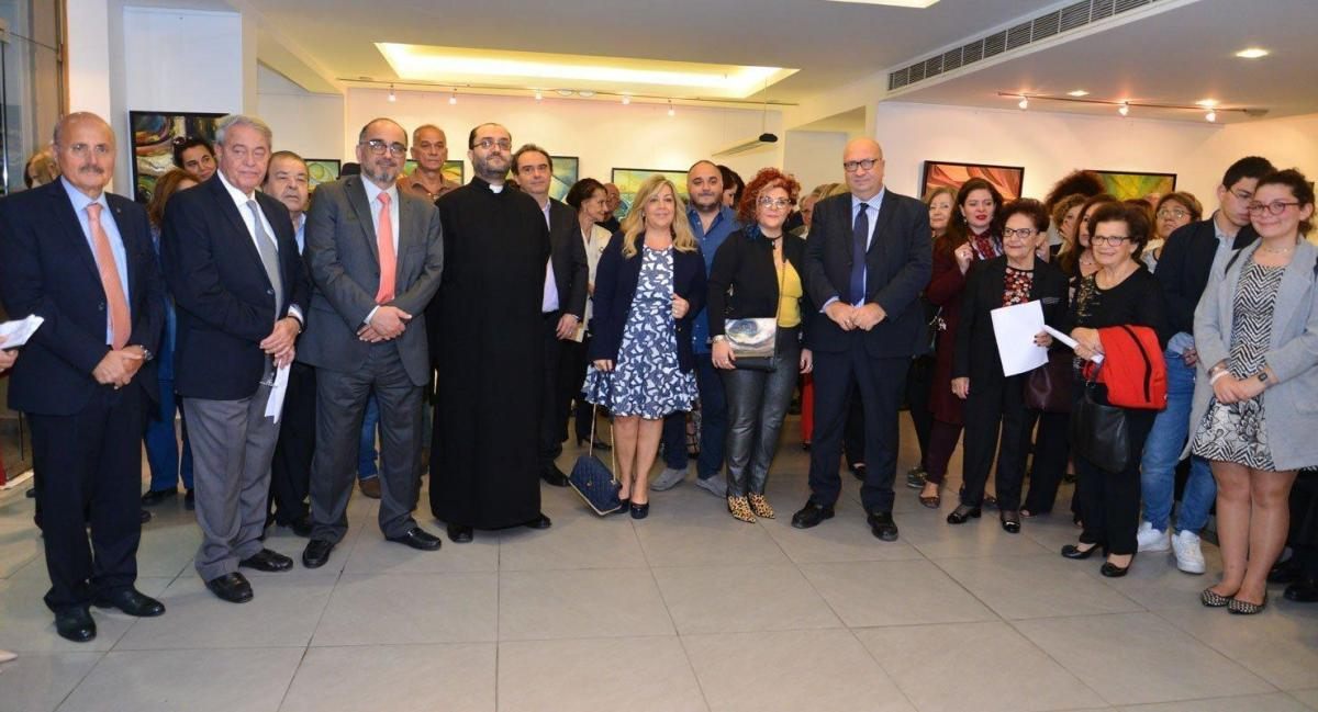 "Artist Lena Aydenian's ""Source of Hope"" Exhibit Opens in Lebanon"