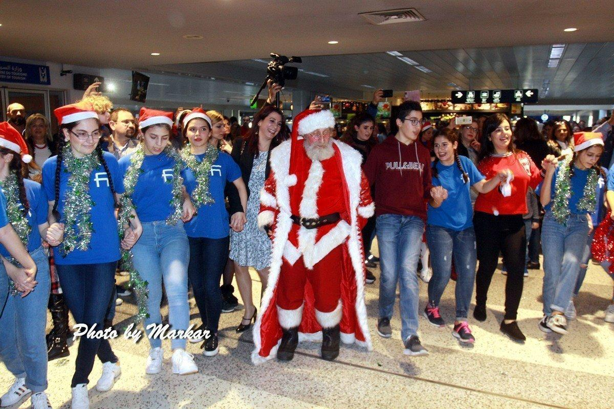 Santa Comes from Armenia to Visit Beirut Airport