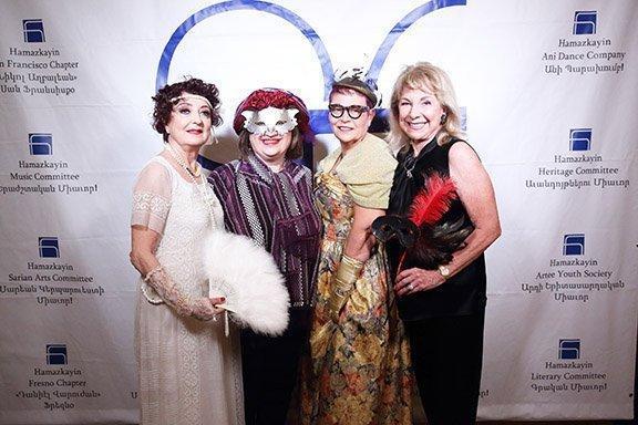 Masquerade celebration for Mardi Gras in Hollywood