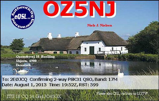 OZ5NJ eQSL Card