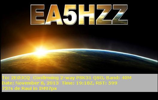 EA5HZZ eQSL Card