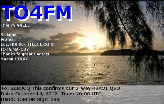 TO4FM eQSL Card