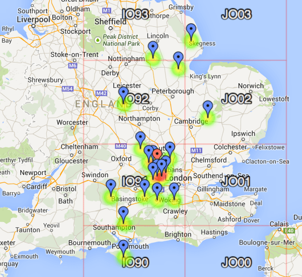 UKAC Contacts Map