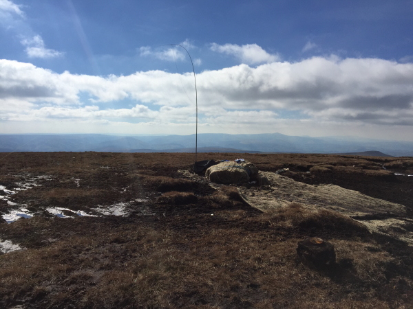 Dipole setup on Waun Fach summit