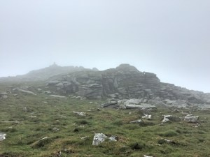 View of Yes Tor in the clouds