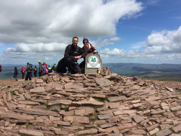 Me & the YL at the summit cairn