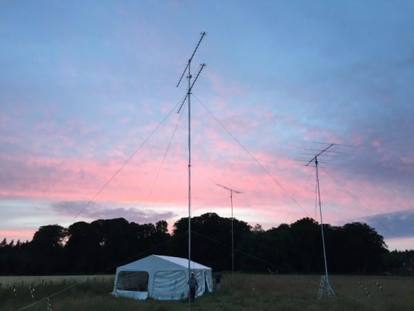 VHF Contest Site at Dusk