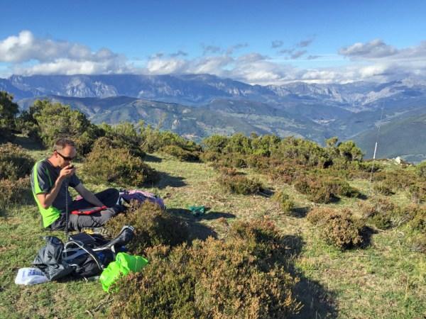 Me mid-pileup on the summit