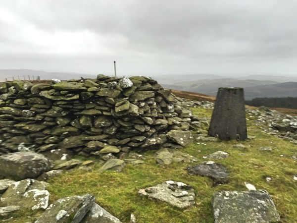 Summit cairn and Trig point - usefully located for the WAB trigpoint award!